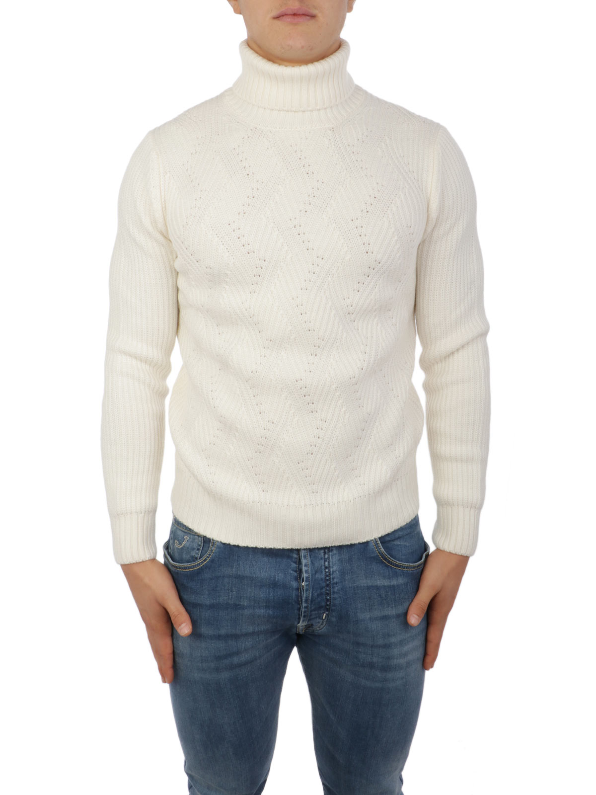 Picture of BARBA | Men's Virgin Wool Turtleneck Sweater