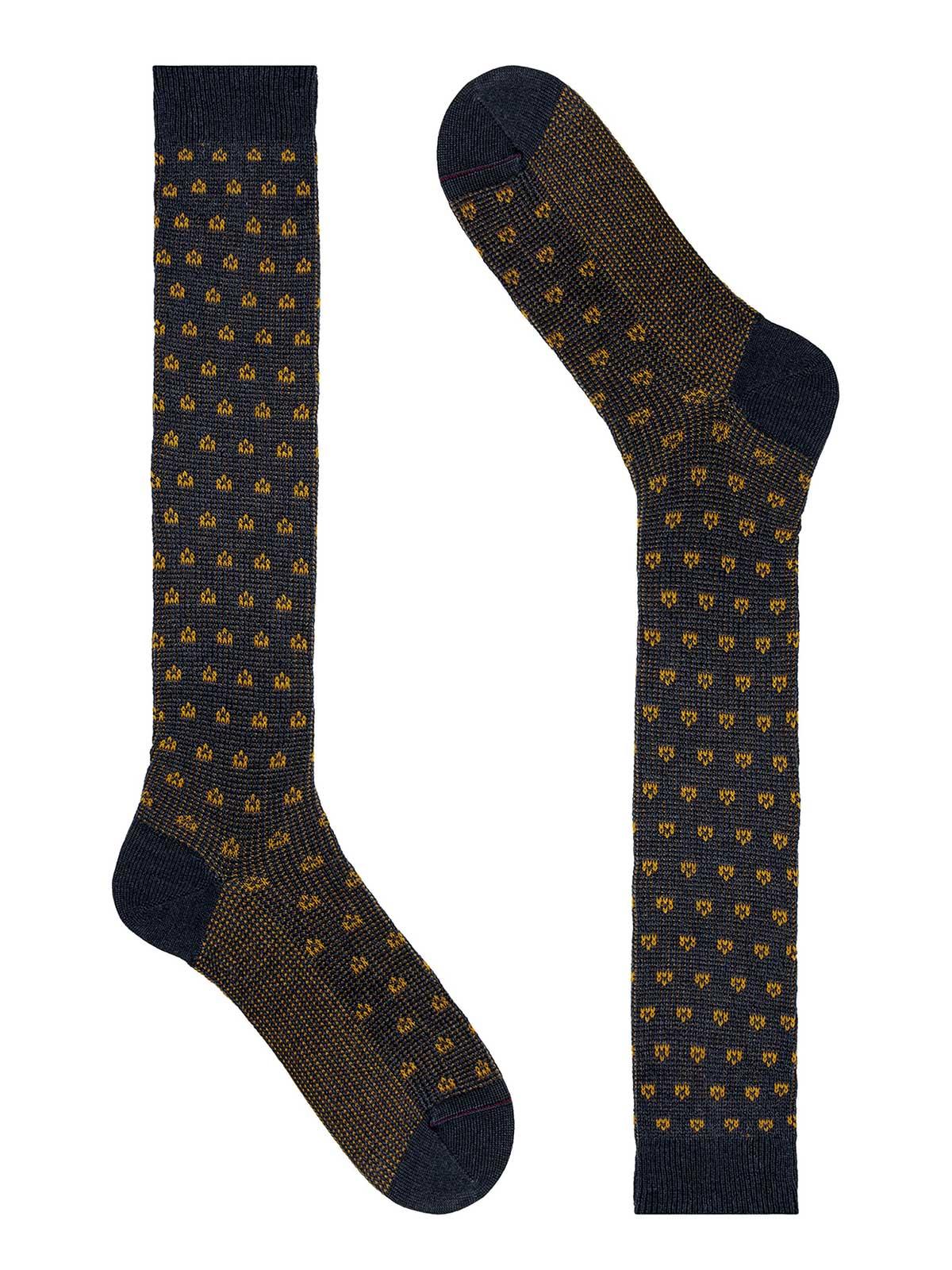 Picture of GALLO | Men's Wool Pattern Long Socks