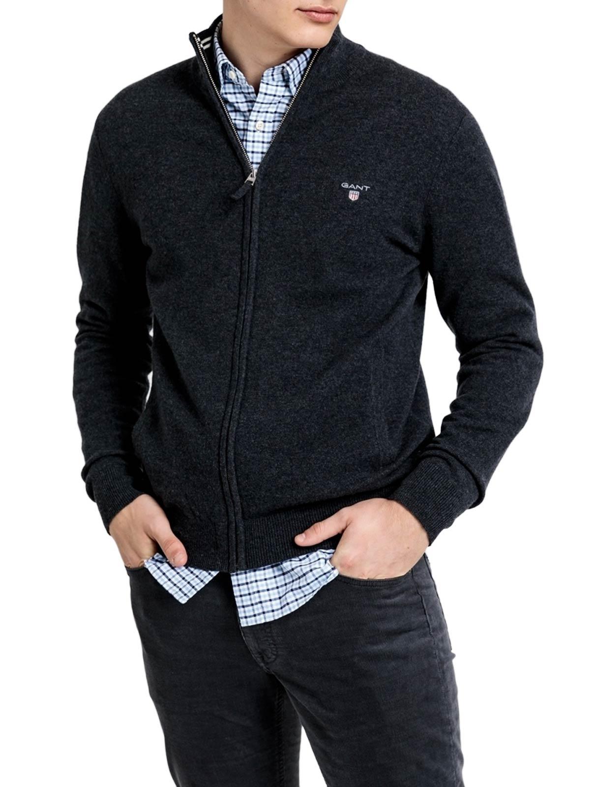 Picture of Gant | Jersey Superfine Lambswool Zip Cardiga
