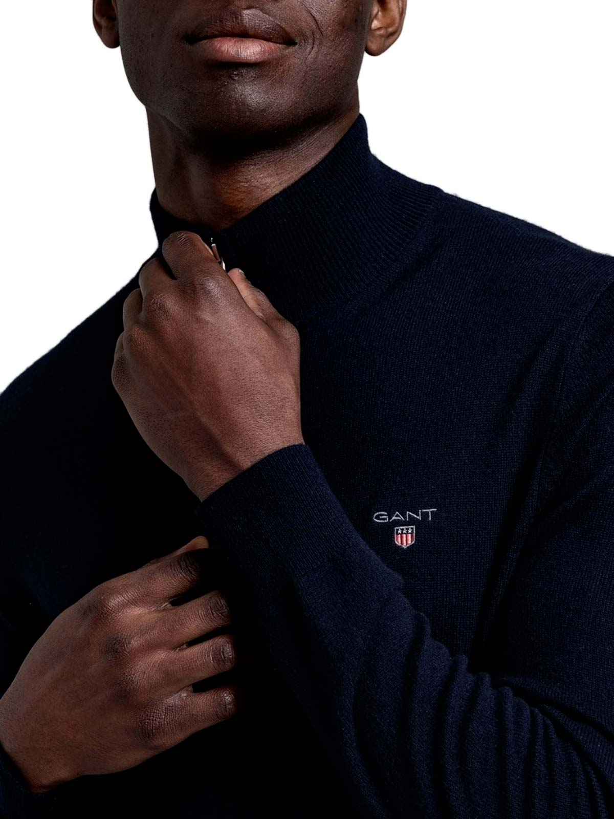 Picture of Gant | Jersey Superfine Lambswool Zip Cardiga