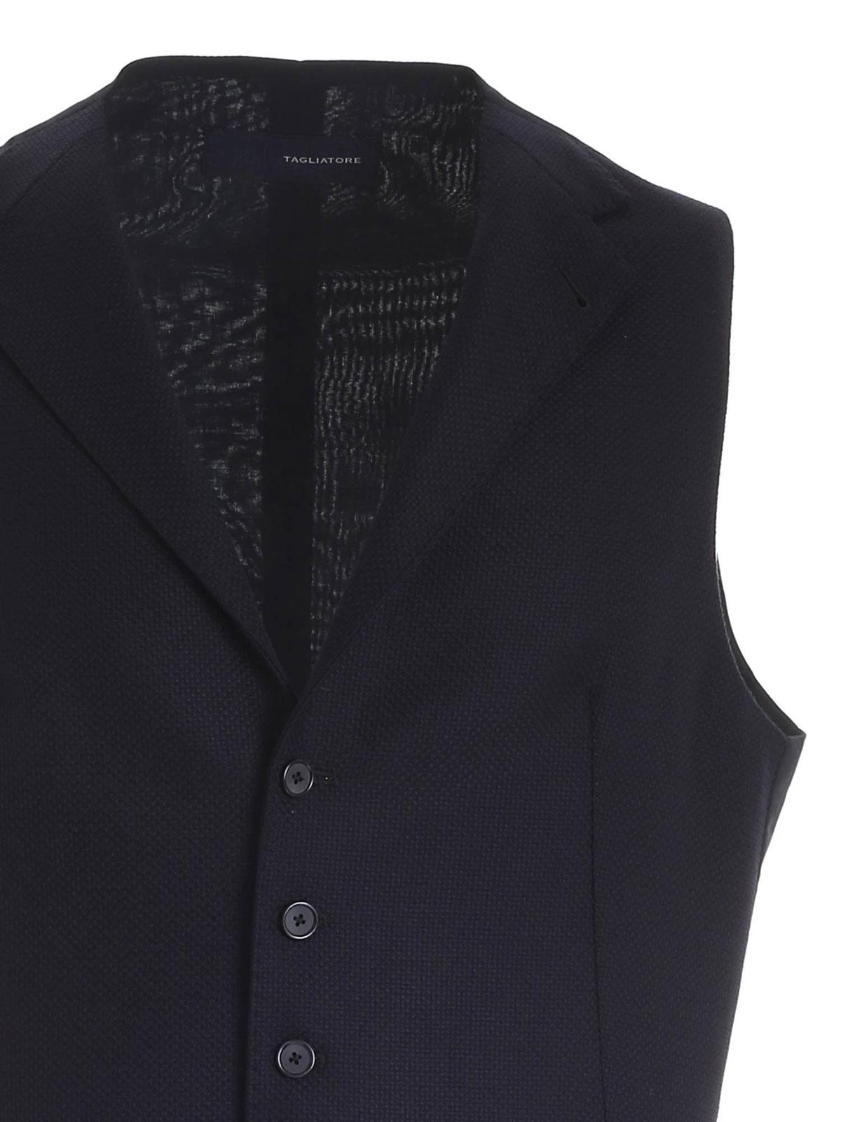 Picture of TAGLIATORE | Men's Virgin Wool Vest