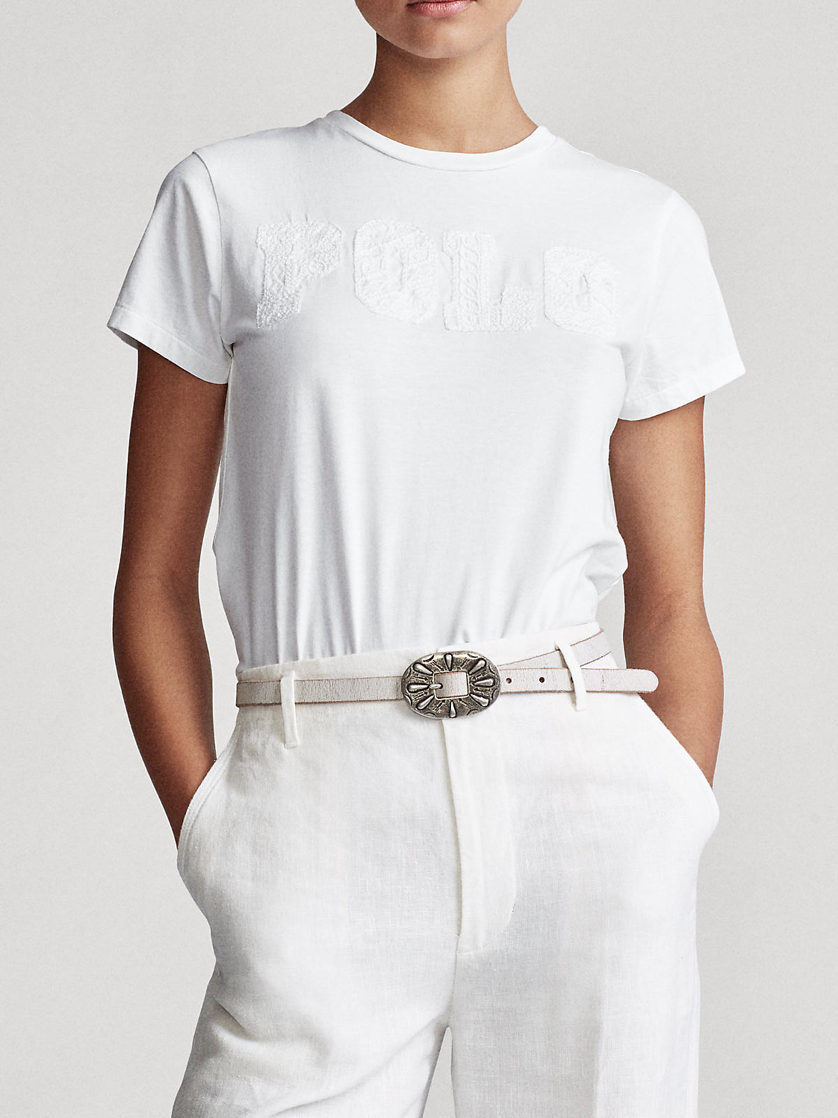 Picture of POLO RALPH LAUREN | Women's T-shirt with Embossed Logo
