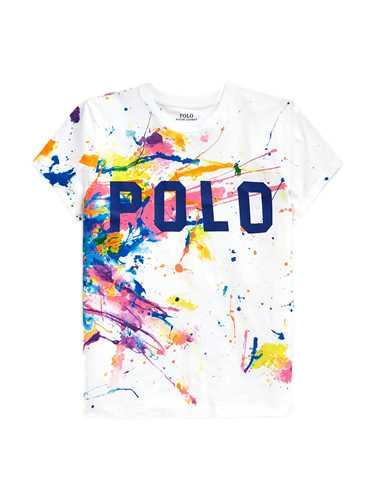 Picture of POLO RALPH LAUREN | Women's Multicolor Paint T-shirt