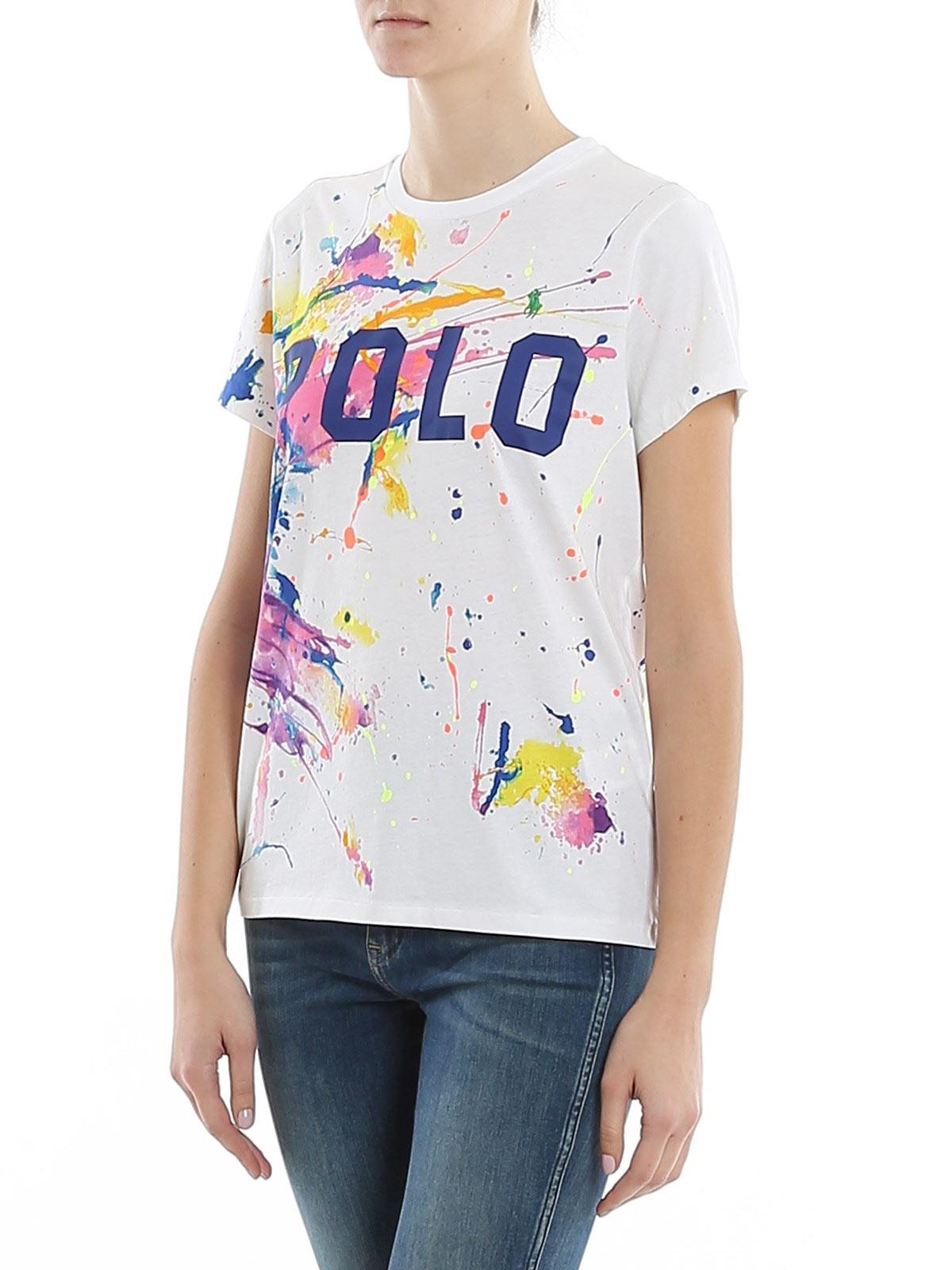Picture of POLO RALPH LAUREN   Women's Multicolor Paint T-shirt