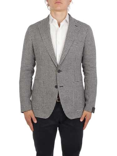 Picture of TAGLIATORE | Men's Linen and Cotton Checked Blazer