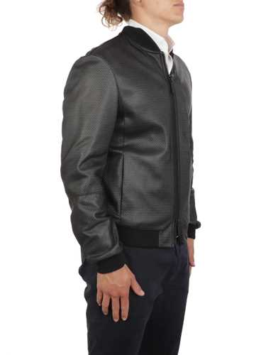 Picture of EMPORIO ARMANI | Men's Leather Bomber Jacket