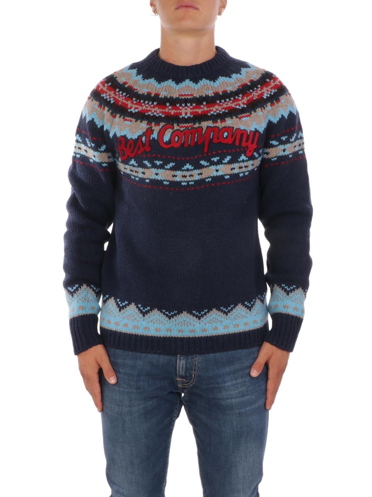 comprare on line 75c63 e98d1 BEST COMPANY Maglione Uomo Fantasia