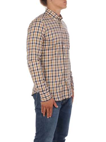 Picture of AQUASCUTUM | Men's Checked Cotton Shirt