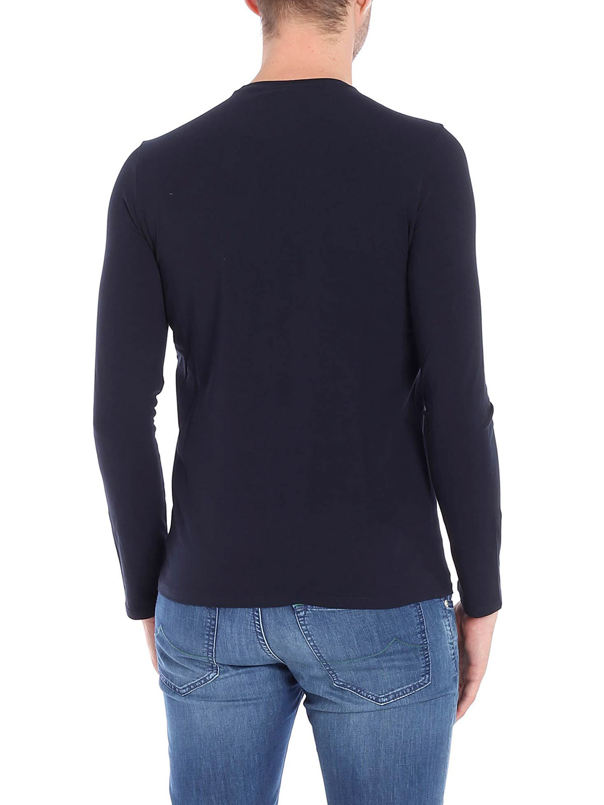 Picture of EMPORIO ARMANI | Men's Stretch Cotton Crewneck