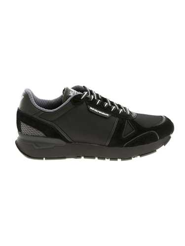 Picture of EMPORIO ARMANI | Men's Bicolor Leather Sneakers