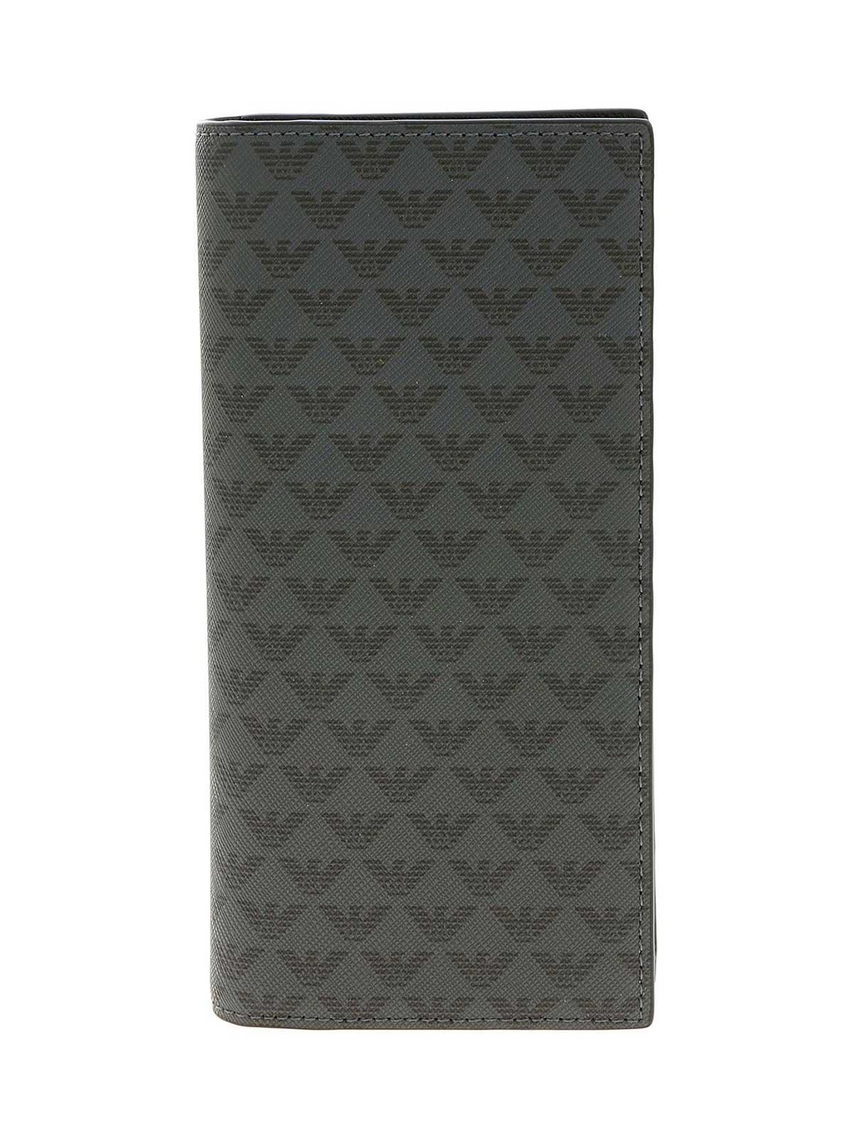 Picture of EMPORIO ARMANI   Men's Logo Pattern Maxi Wallet