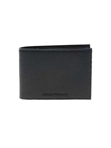 Picture of EMPORIO ARMANI | Men's Hammered Leather Wallet