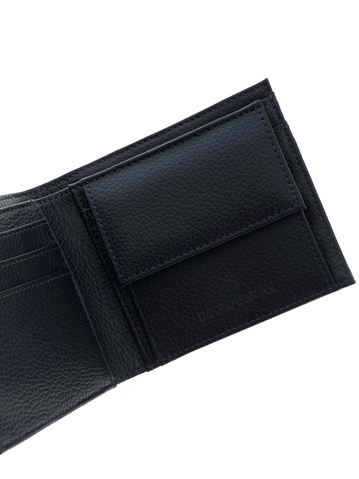Picture of EMPORIO ARMANI | Men's Leather Wallet with Coin Purse