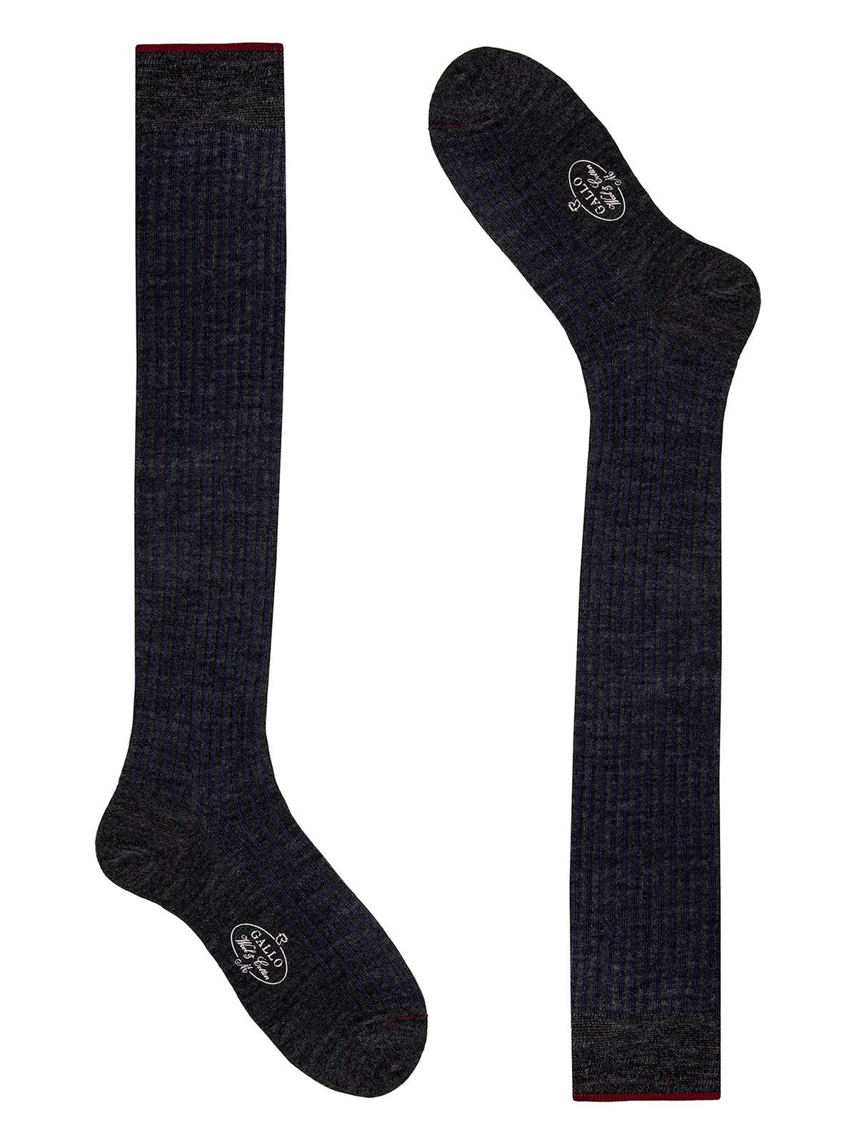 Picture of GALLO | Men's Wool Twin Rib Long Socks