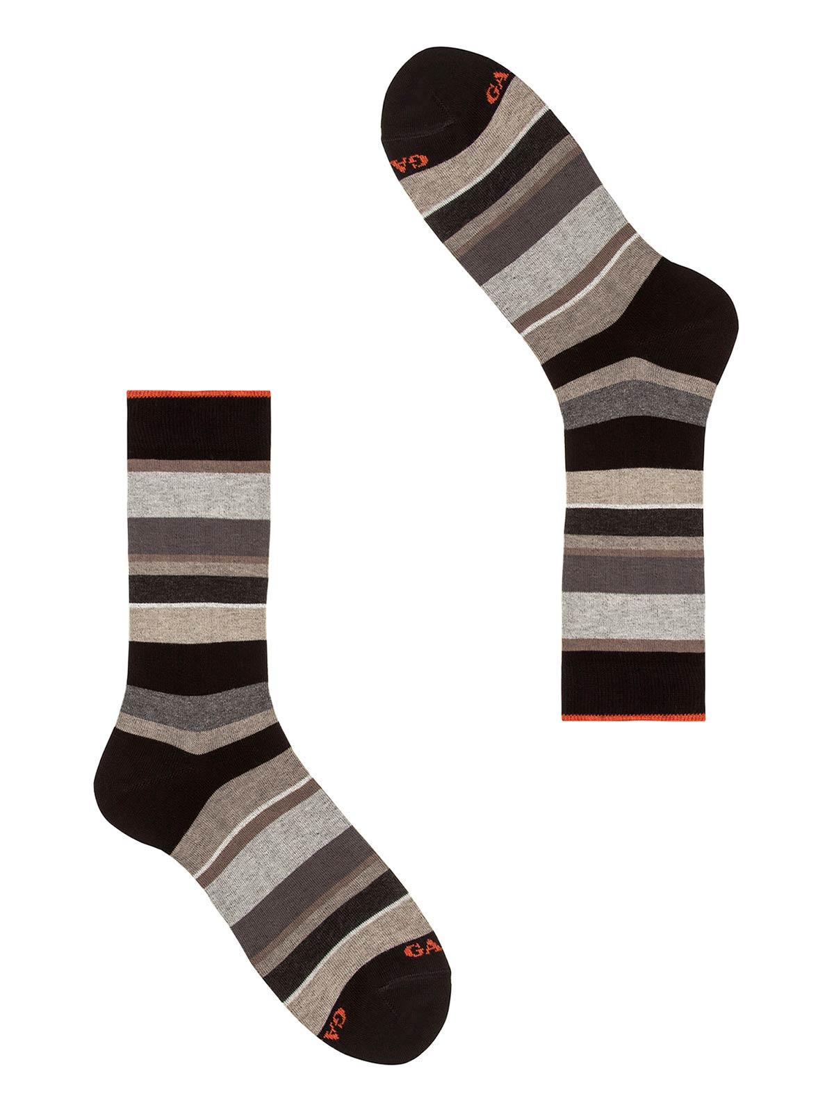 Picture of GALLO   Men's Striped Cotton Short Socks