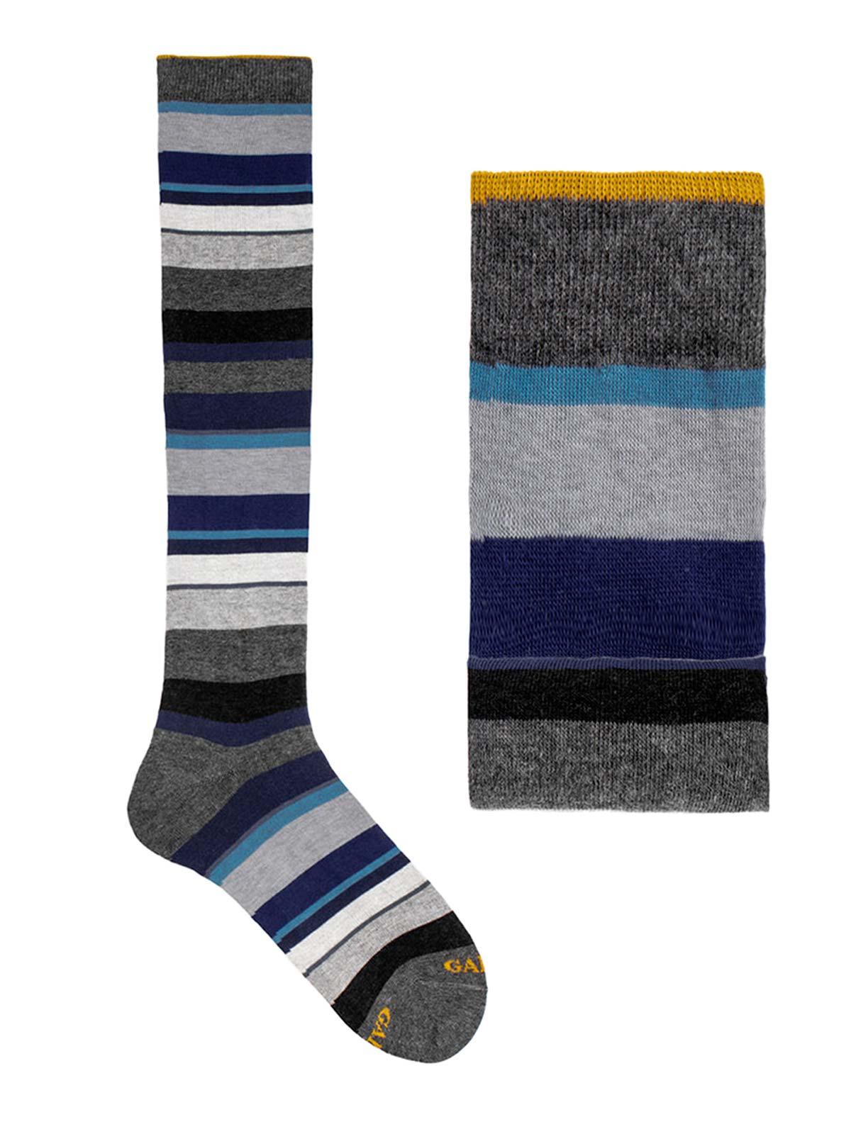 Picture of GALLO | Men's Striped Cotton Long Socks