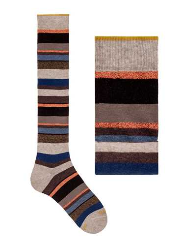 Picture of GALLO | Men's Striped Cotton Long Socks