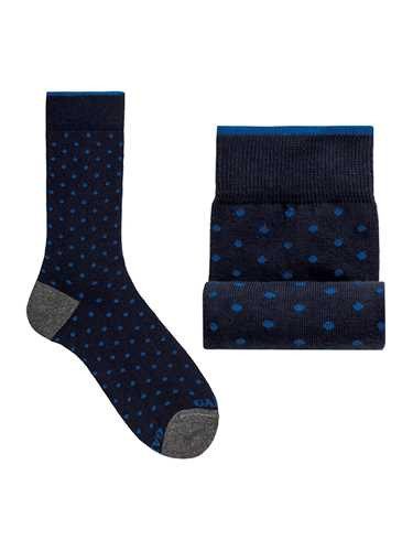 Picture of GALLO | Men's Dotted Cotton Short Socks