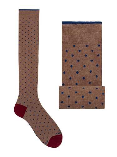 Picture of GALLO | Men's Dotted Cotton Long Socks