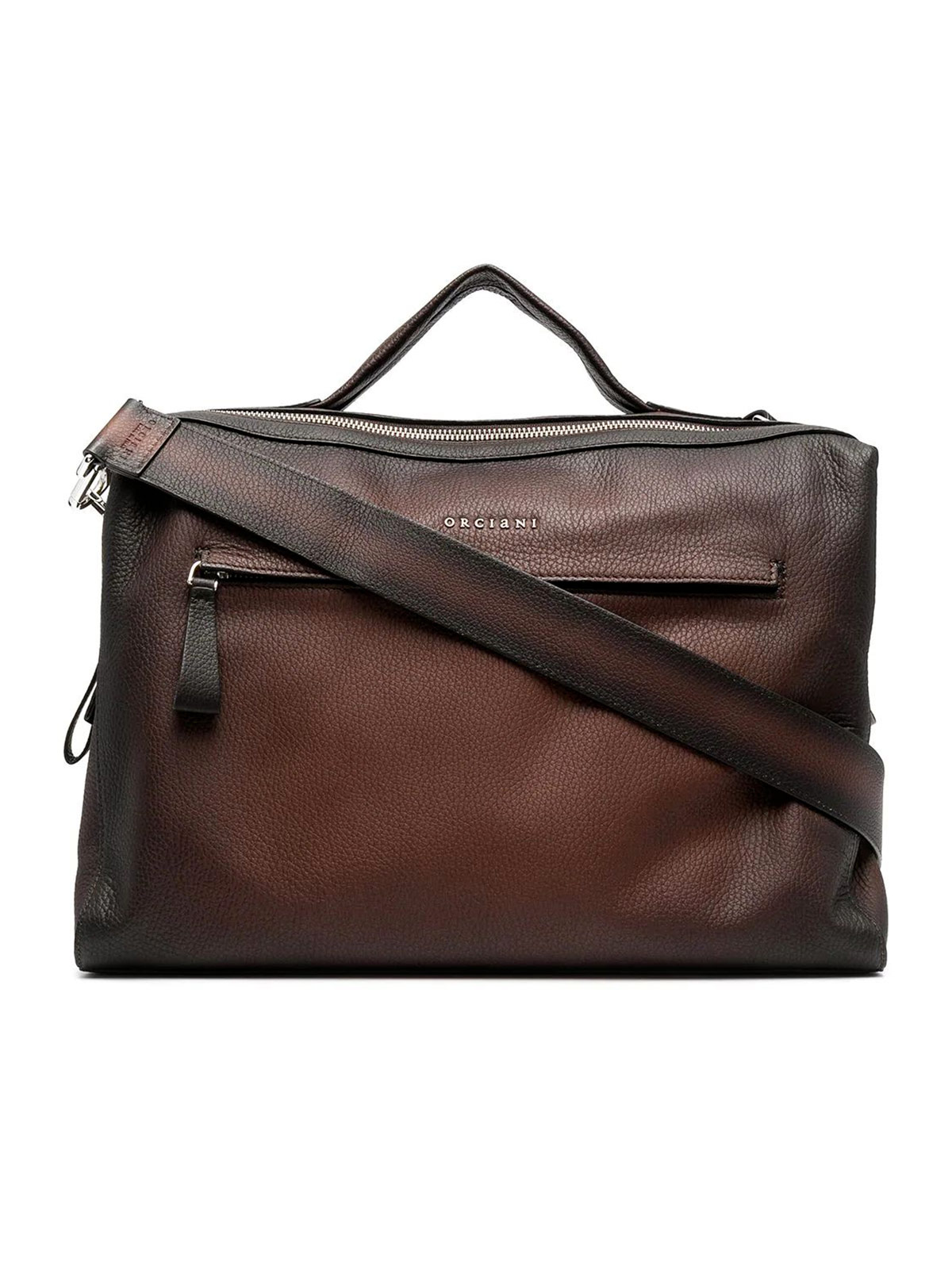 Picture of ORCIANI | Men's Micro Deep Leather Hand Bag