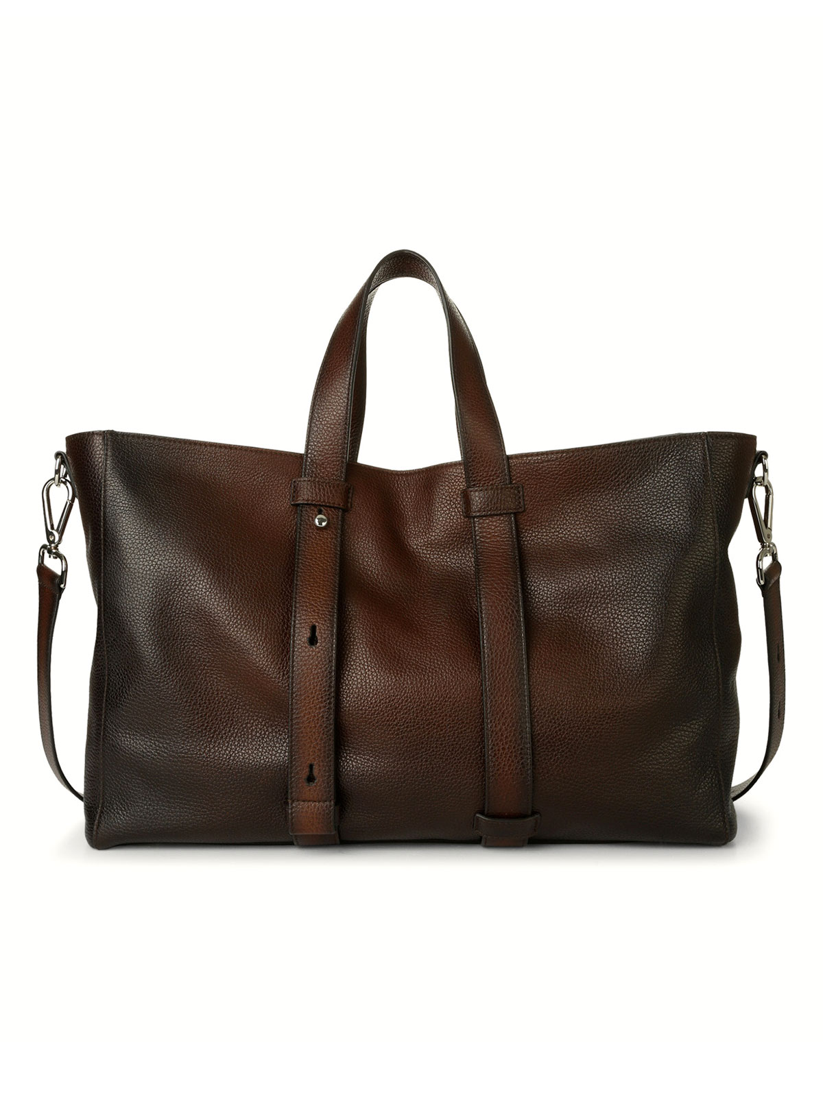 Picture of ORCIANI | Men's Micro Deep Leather Weekender Bag