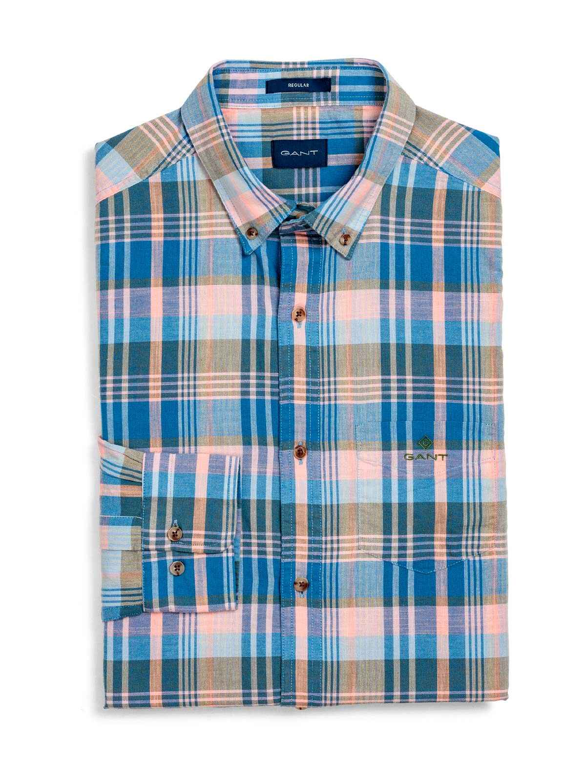 Picture of GANT | Camicie O2. PASTEL MADRAS REG BD