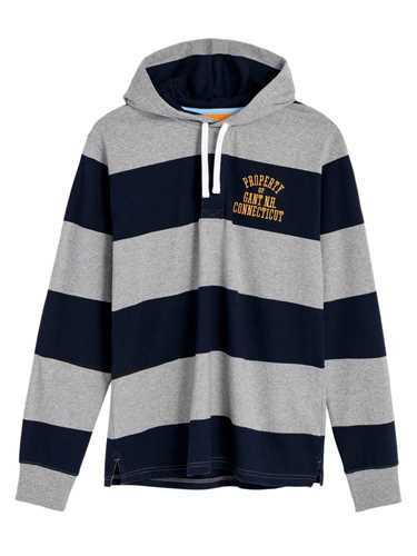 Picture of GANT | POLO O1. BAR STRIPE HEAVY RUGGER HOODIE