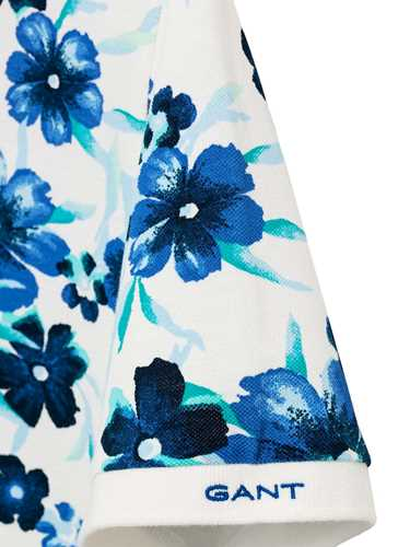 Picture of GANT | POLO O2. ALL OVER FLORAL PIQUE SS RUGGER