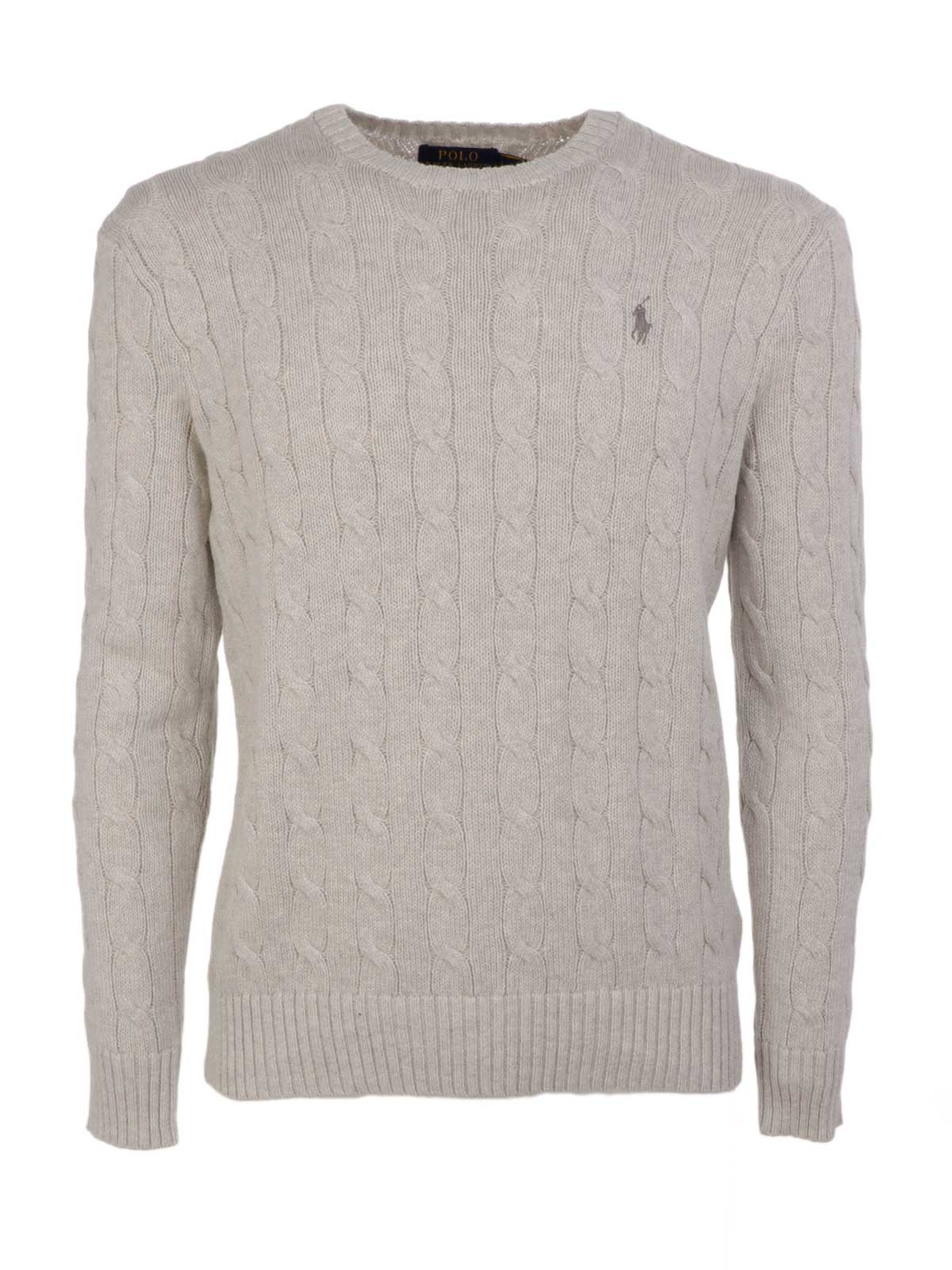 80dd99cde3395e POLO RALPH LAUREN Men s Cable-Knit Sweater Light Grey Htr ...
