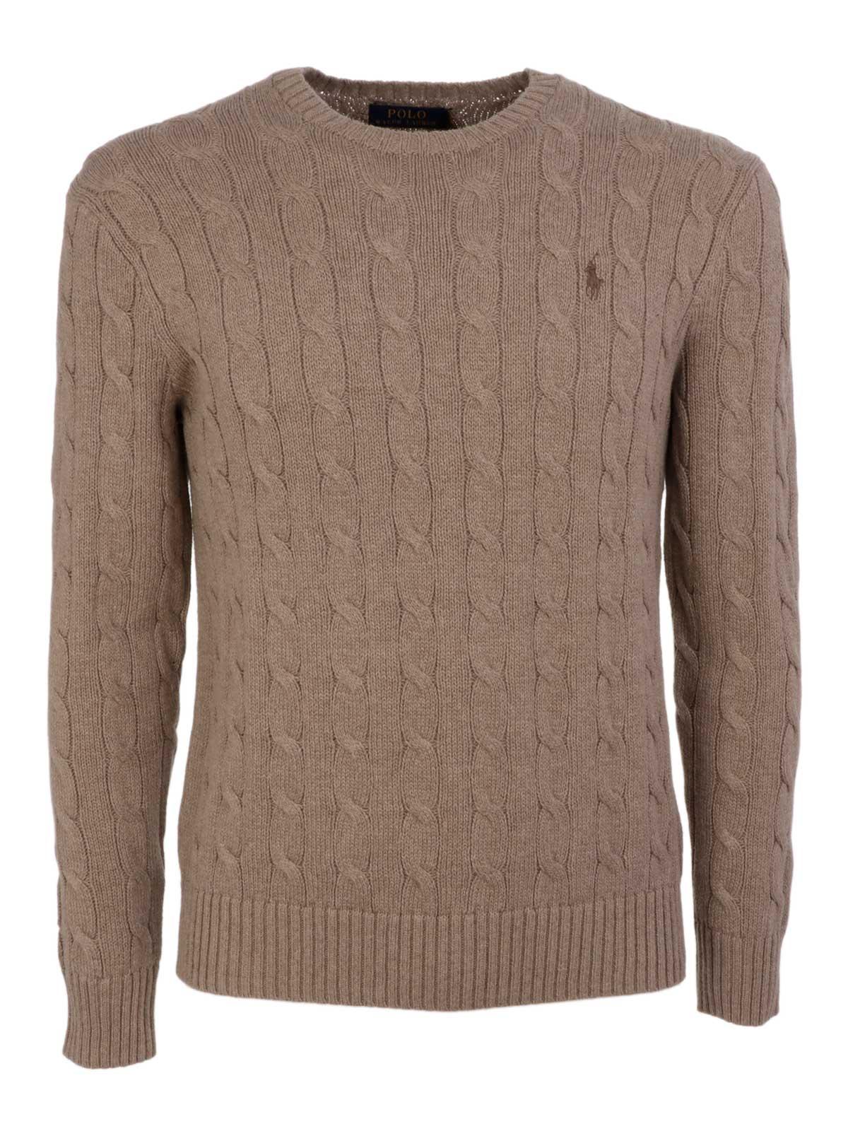 8846200dd39 POLO RALPH LAUREN Men s Cable-Knit Sweater Beige Htr