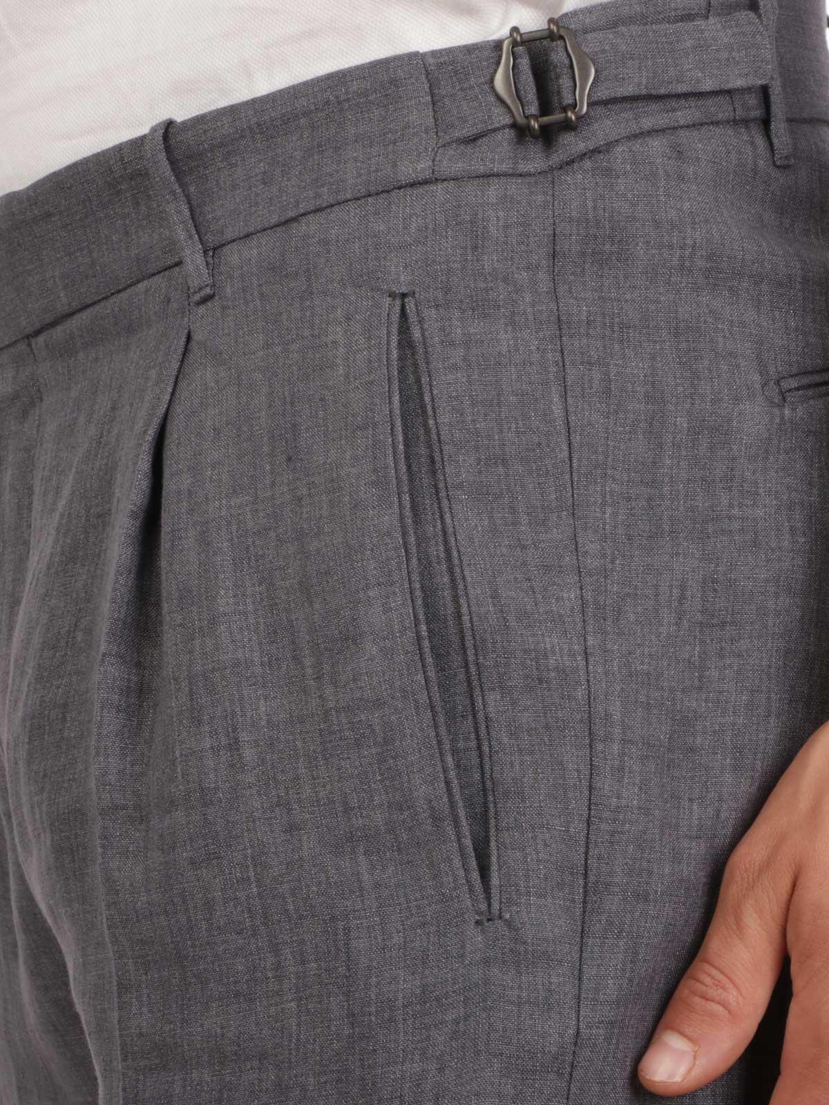 Picture of BERWICH | Men's Linen Trousers