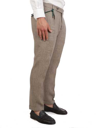 Picture of BERWICH | Men's Linen Trousers