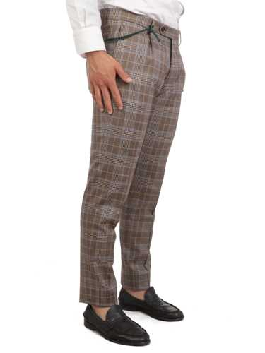 Picture of BERWICH | Men's Linen Tartan Trousers