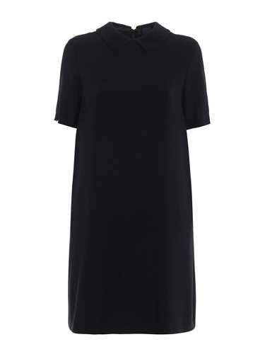Picture of ASPESI | Crepe Short Sleeves Dress