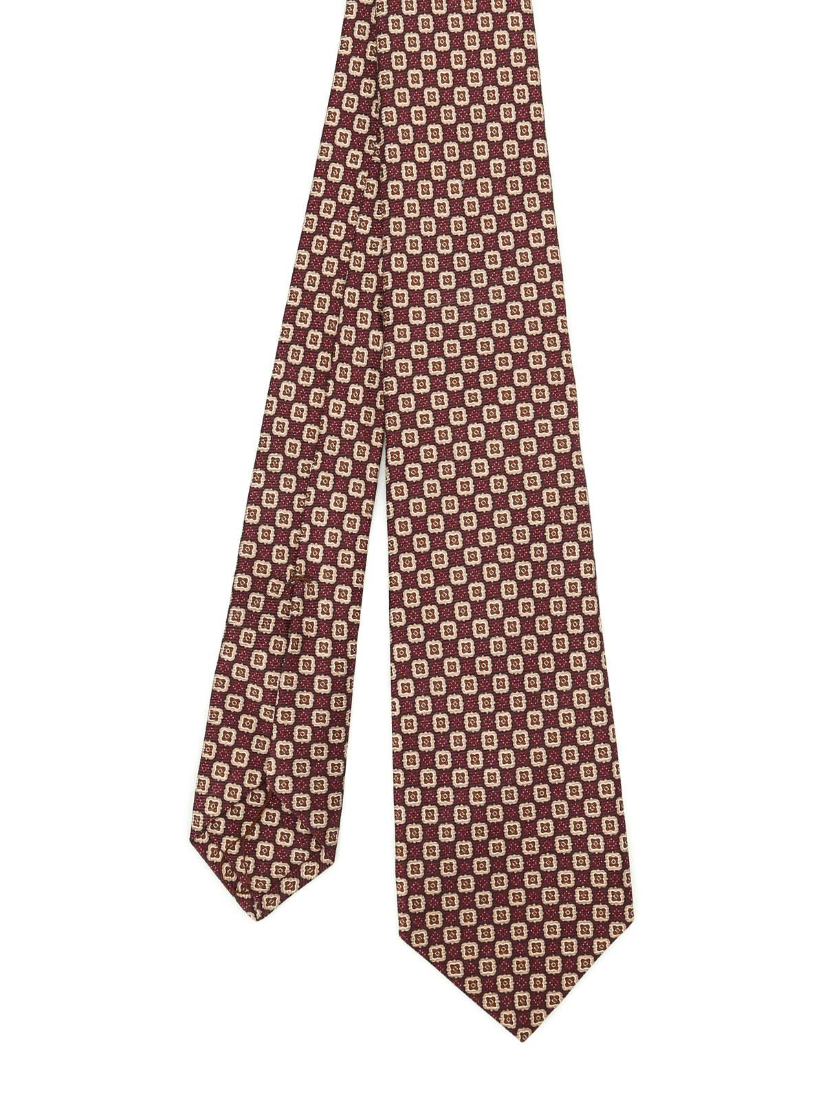 Picture of KITON | Printed Silk Tie