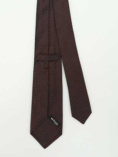 Picture of KITON | Micro Patterned Silk Tie