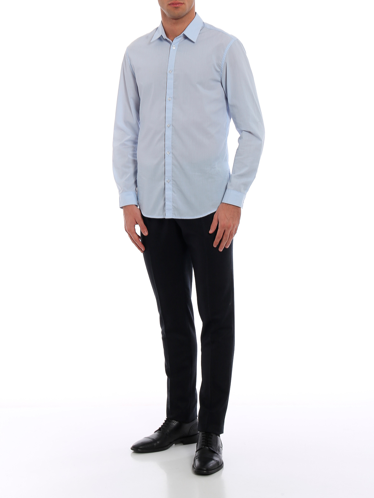 Picture of INCOTEX | Men's Pinstriped Wool Trousers