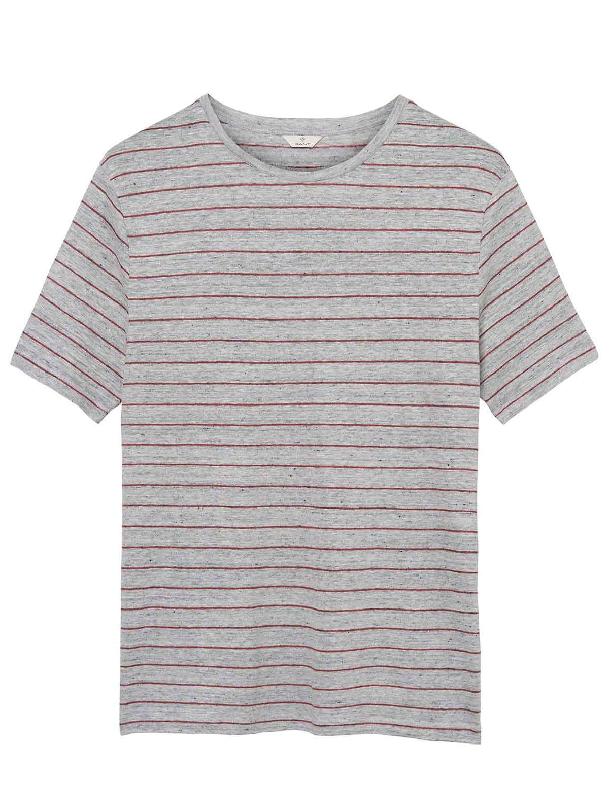 Picture of GANT | Men's Striped Linen Tee