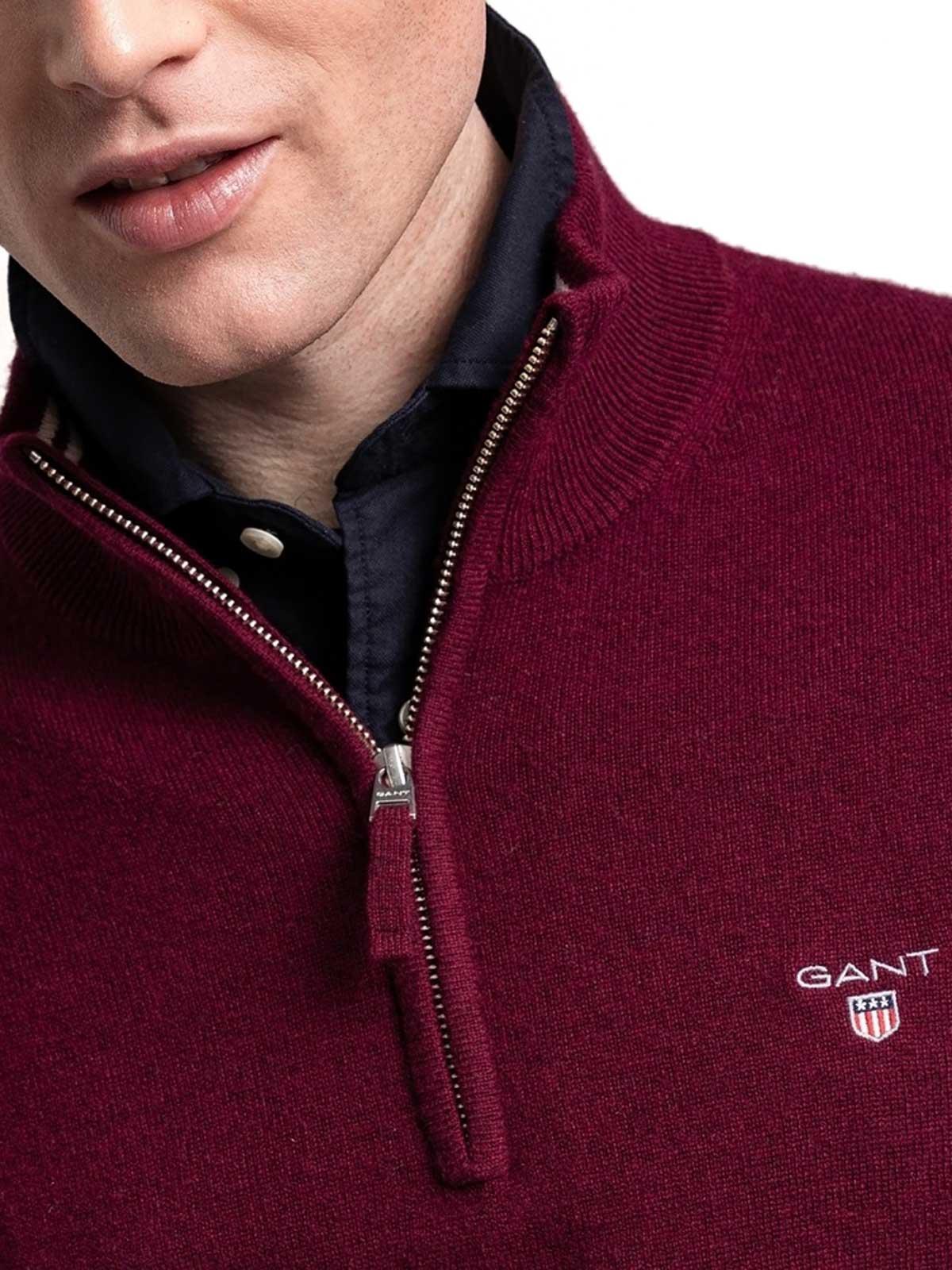 Picture of Gant | Jersey Superfine Lambswool Half Zip
