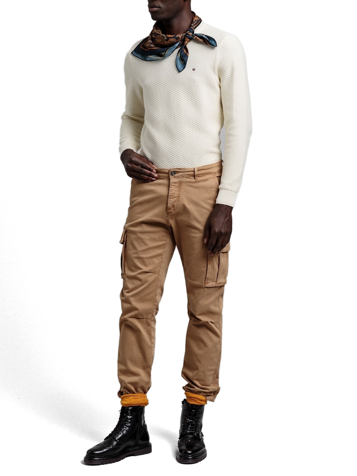 Picture of Gant   Jersey Triangle Texture Crew
