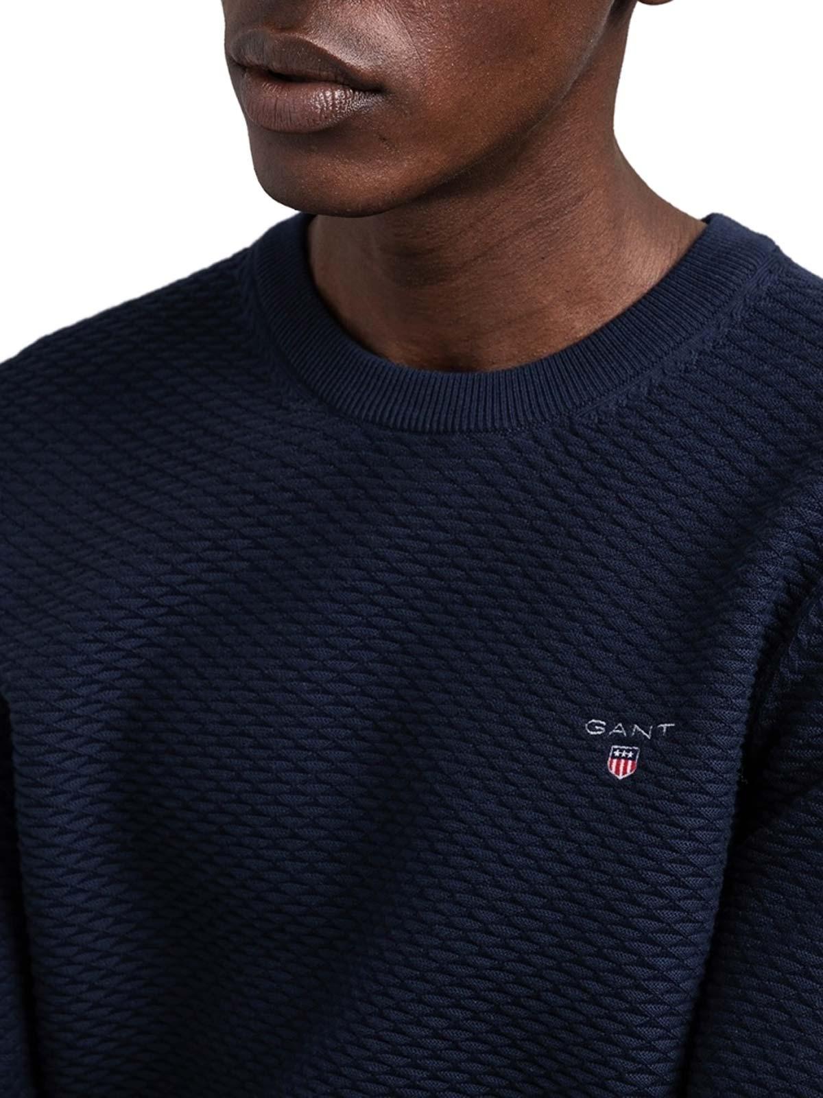 Immagine di Gant | Jersey Triangle Texture Crew