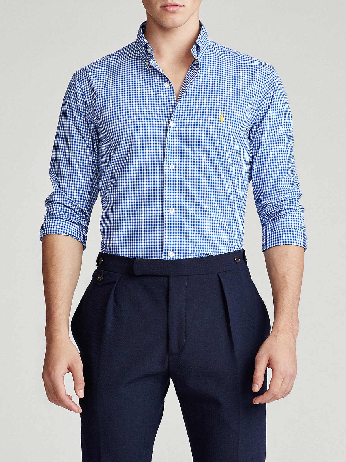 Picture of POLO RALPH LAUREN | Men's Gingham Poplin Shirt