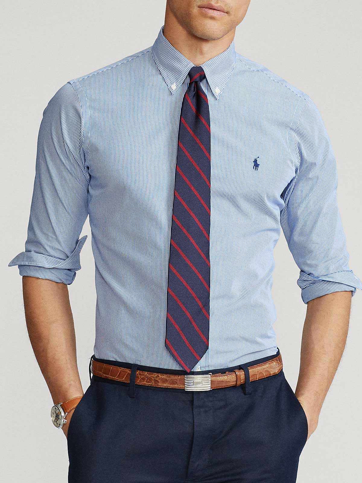 Picture of POLO RALPH LAUREN | Men's Custom Fit Striped Shirt