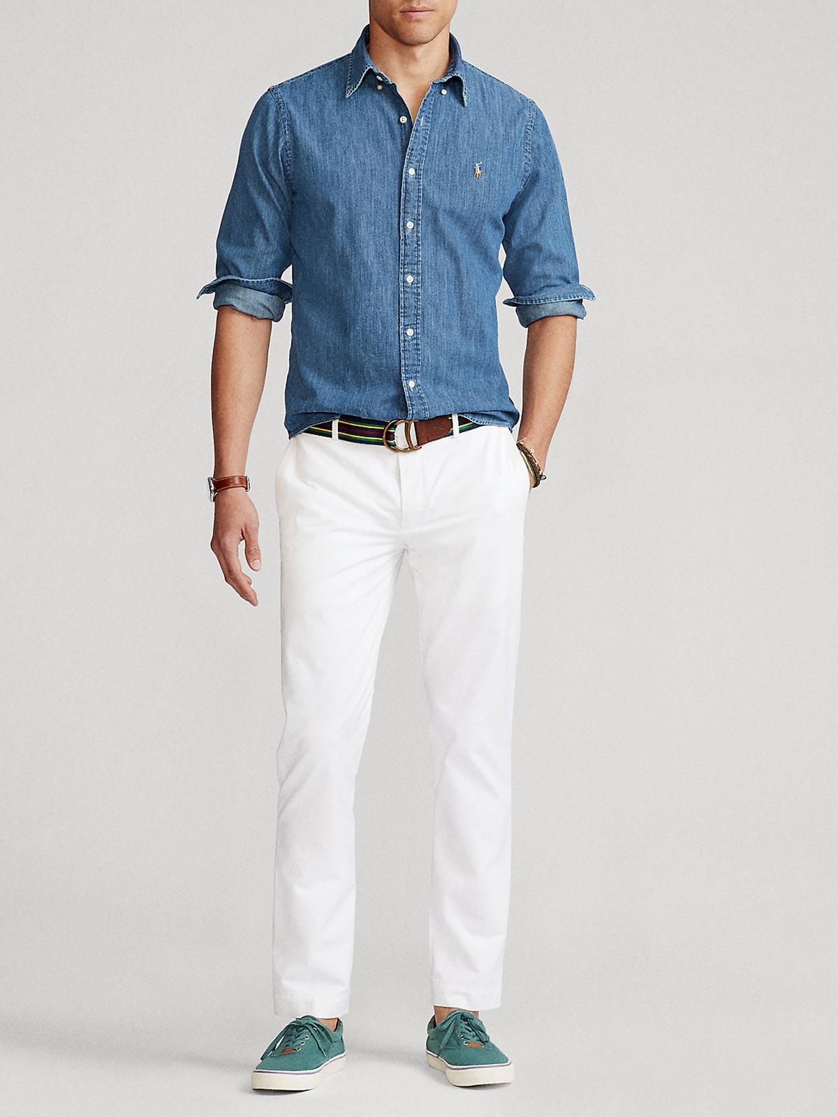Picture of POLO RALPH LAUREN | Men's Denim Custom Fit Shirt