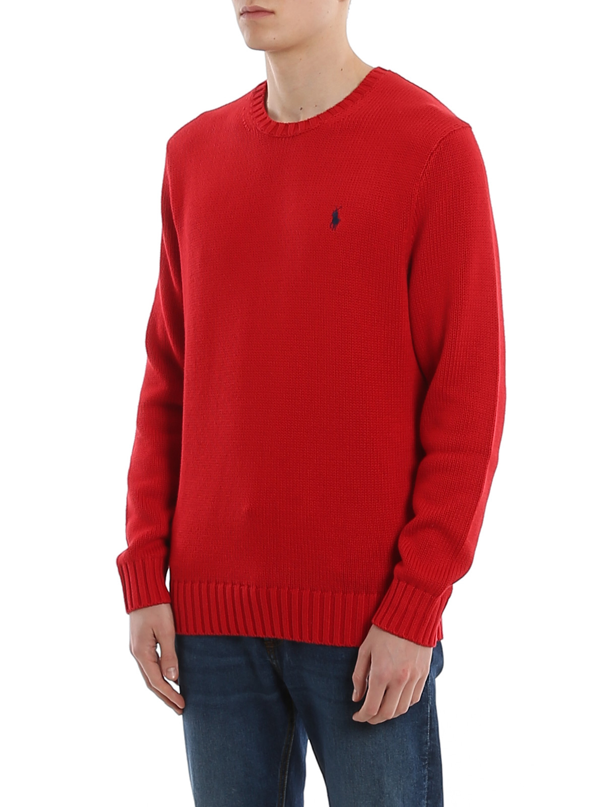 Picture of POLO RALPH LAUREN | Men's Crewneck Cotton Pullover