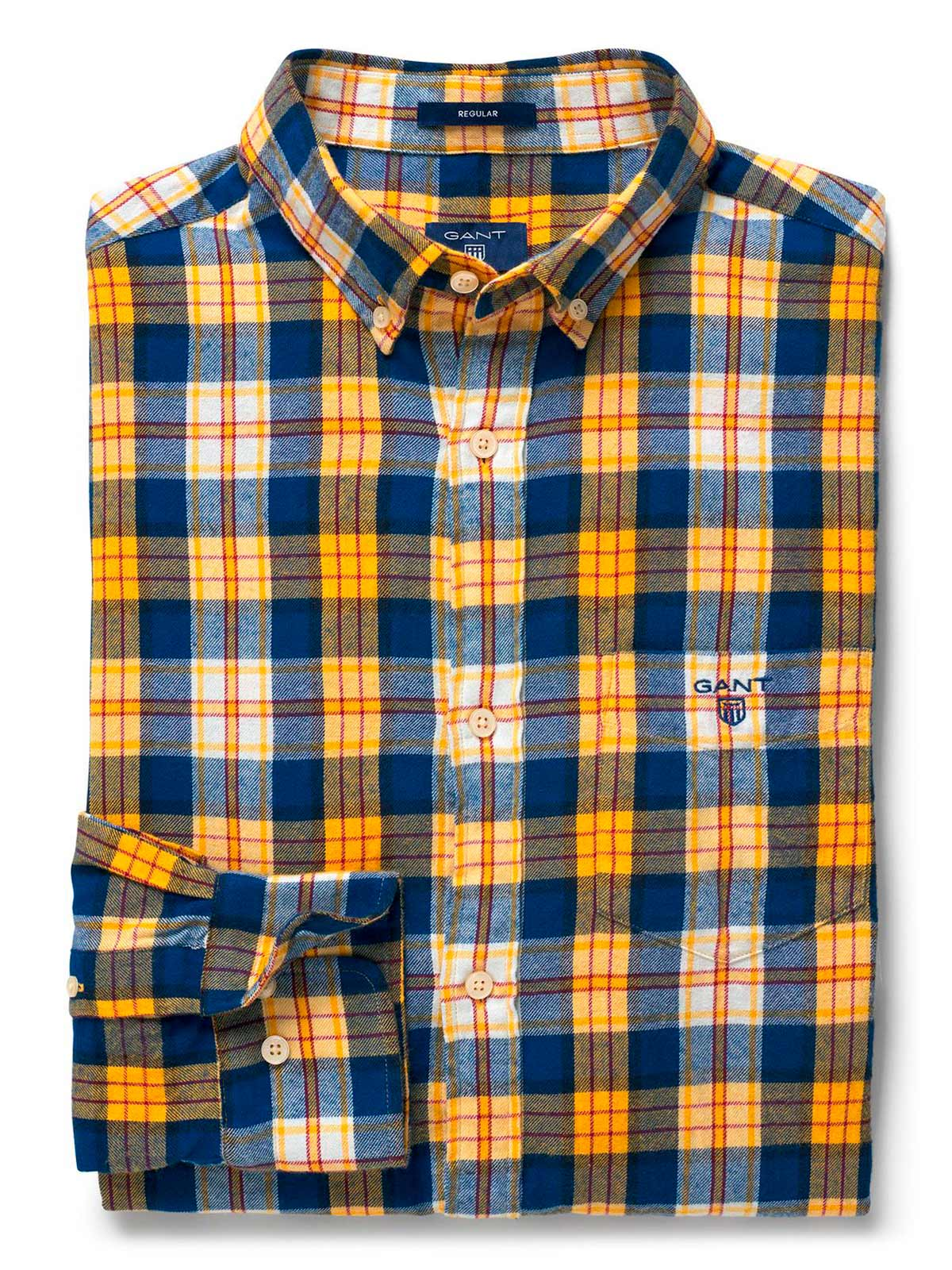 Picture of GANT | Camicie O2. WINDBLOWN FLANNEL PLAID REG BD