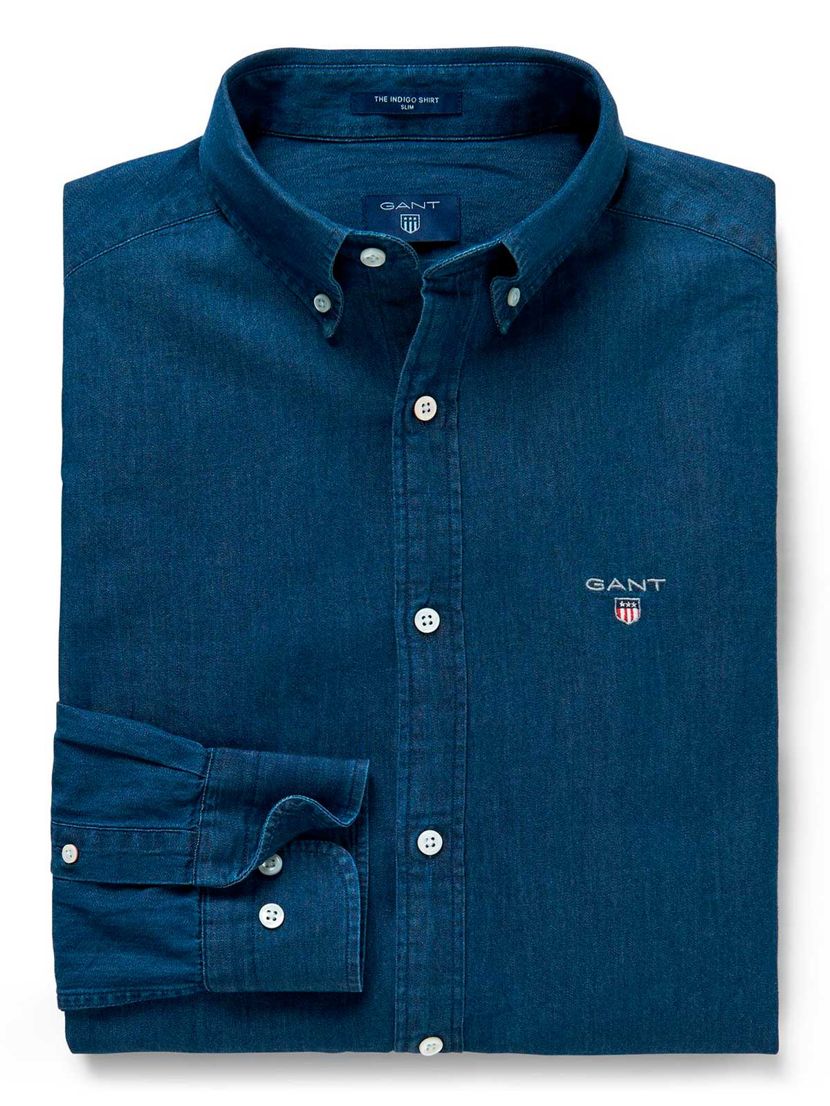 Picture of GANT | Camicie THE INDIGO SLIM BD