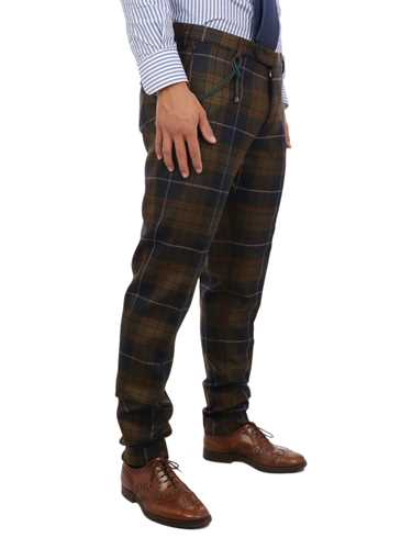 Picture of BERWICH | Men's Wool Tartan Trousers