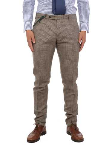 Picture of BERWICH | Men's Pied-de-Poule Trousers