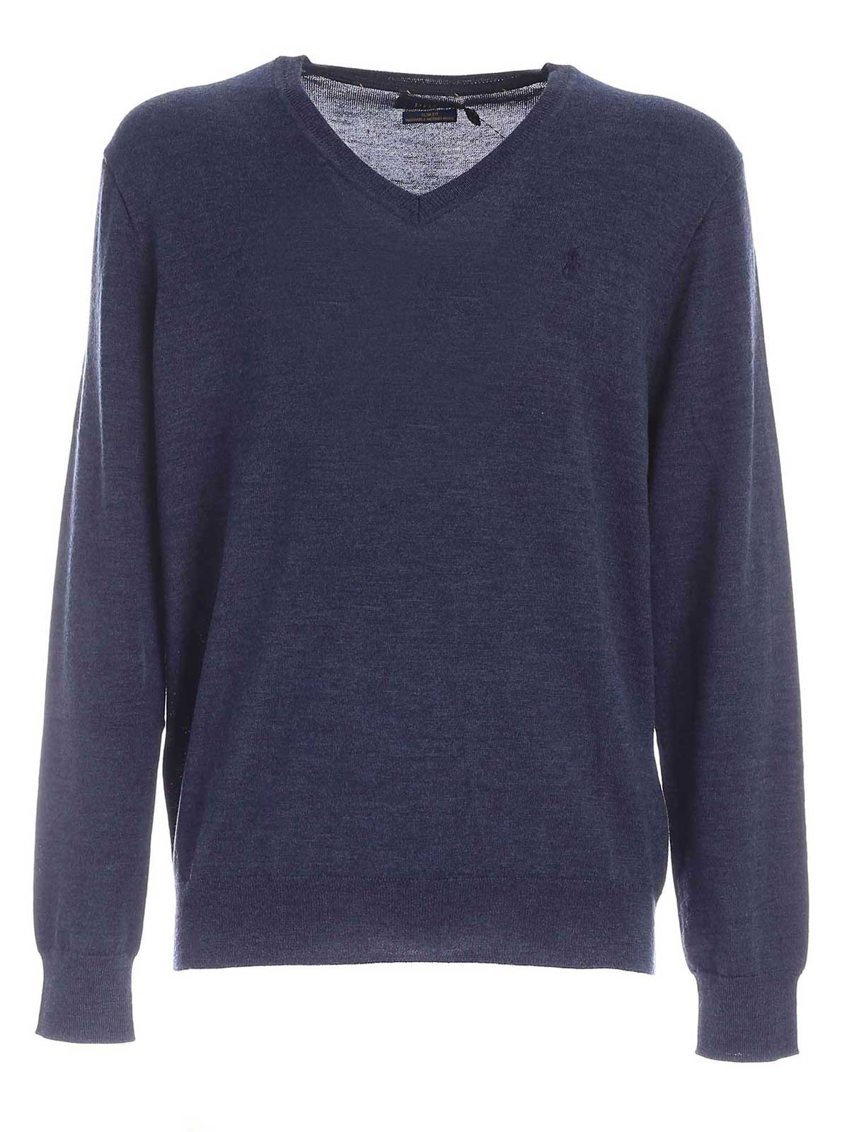Picture of POLO RALPH LAUREN | Men's Wool V-Neck Sweater